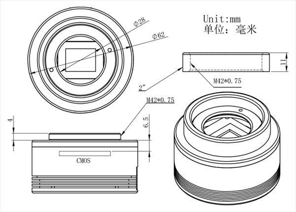 ASI183MCの寸法図